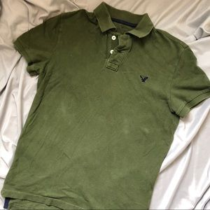 American Eagle Classic Fit Polo S Olive Green